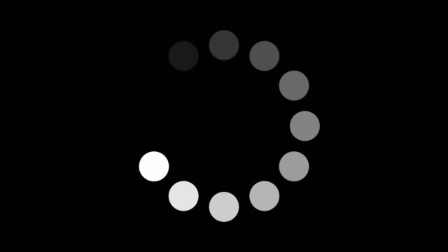 vídeos de stock e filmes b-roll de circular progress bars stock video - carregar