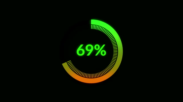 Circular progress bars Circular progress bars, loading, indicator bar counter stock videos & royalty-free footage