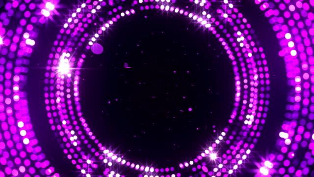 circular reflectors dots luxury background stock video