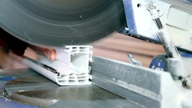 Circular Saw Blade Cutting PVC Window Profile video