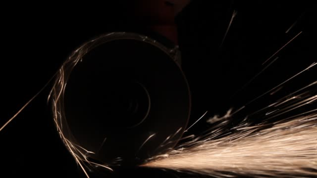 Circular Saw Sparks Sparks from a mechanical circular saw with black background easy to blend by screen mode petard stock videos & royalty-free footage