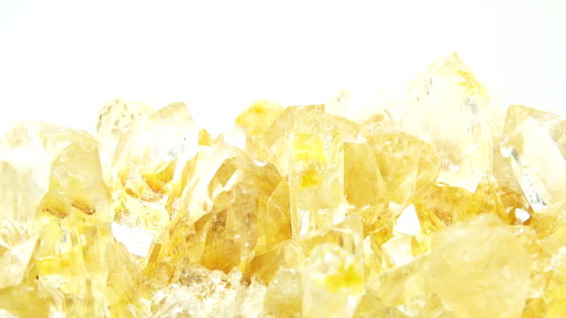 citrine geode geological crystals video