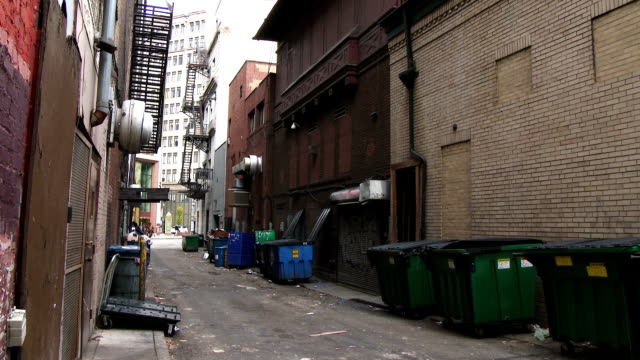 City Alley An ally in downtown Pittsburgh.  alley stock videos & royalty-free footage