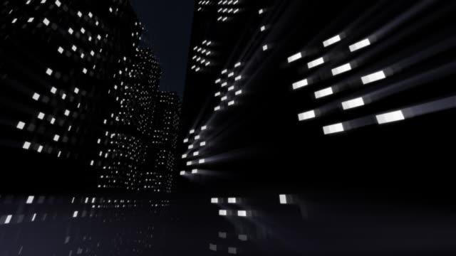 City at night animation video