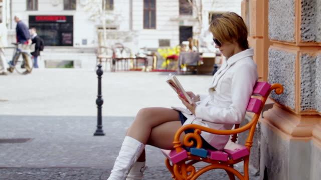 City bench video