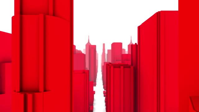 City Buildings Skyline Fly Over (Loop) video
