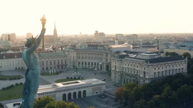 City center of Vienna in the early morning