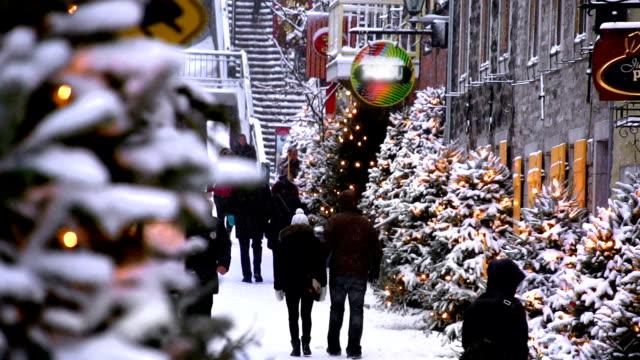 City Christmas Shopping video