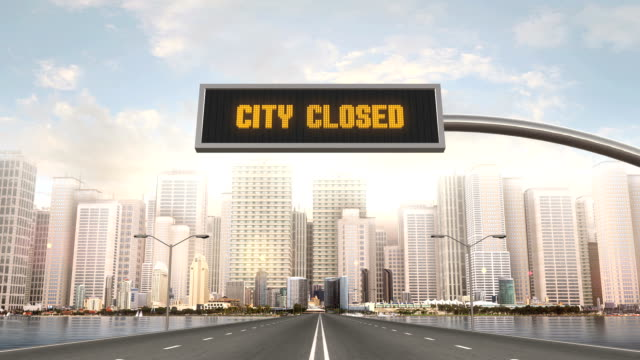 City Closed Traffic Sign video