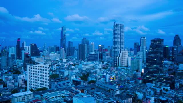 vidéos et rushes de jour de ville à la métropole de nuit bangkok - 2018