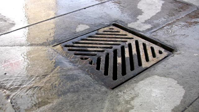 City drain. video
