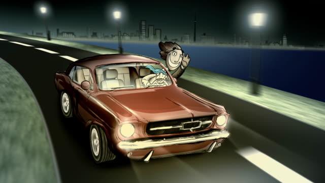 City Driving Night city treedeo speed way stock videos & royalty-free footage