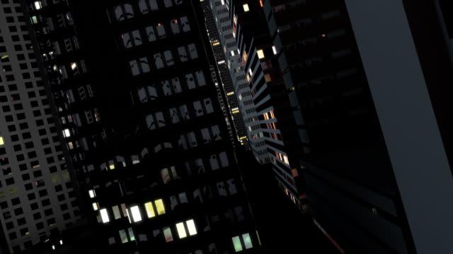 HD City fly through video