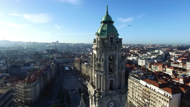 stockvideo's en b-roll-footage met stadhuis en liberty square, porto, portugal - portugal