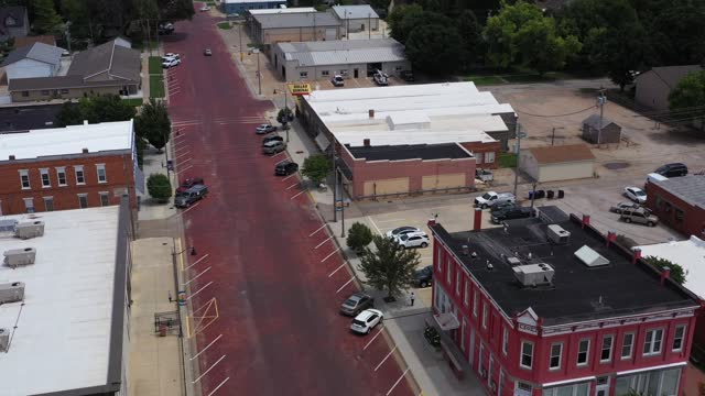City Hall and Other Downtown Buildings, Lindsborg, Kansas, USA
