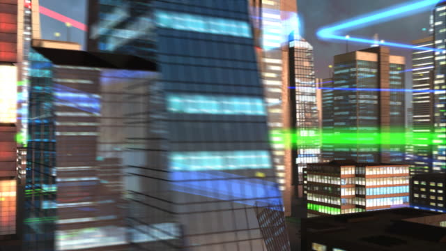 City high rise and digital network video