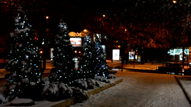 City in the winter. video