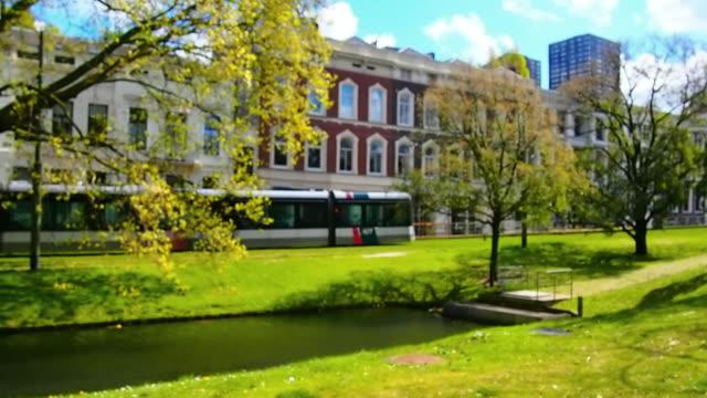 vita di città di rotterdam, olanda - rotterdam video stock e b–roll