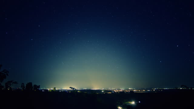 HD TIME-LAPSE: City Light Pollution video