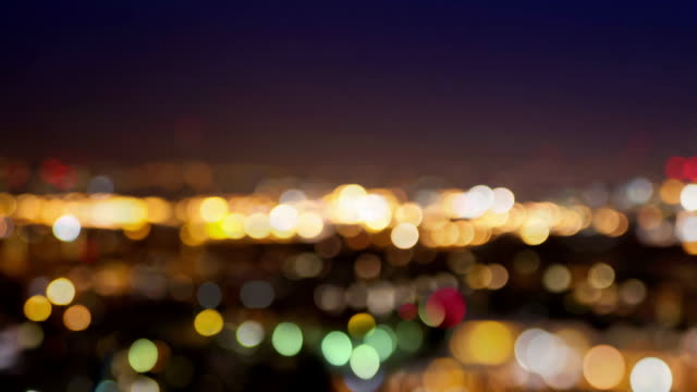 City lights blur at night. London City lights blur at night. London focus on foreground stock videos & royalty-free footage
