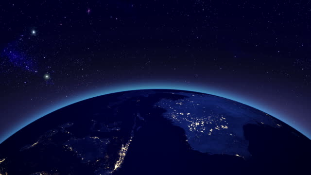 City lights in Australia from space video
