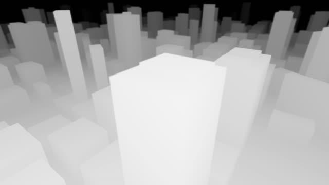 3D Stadtplan Schwarz-Weiß-Panne – Video