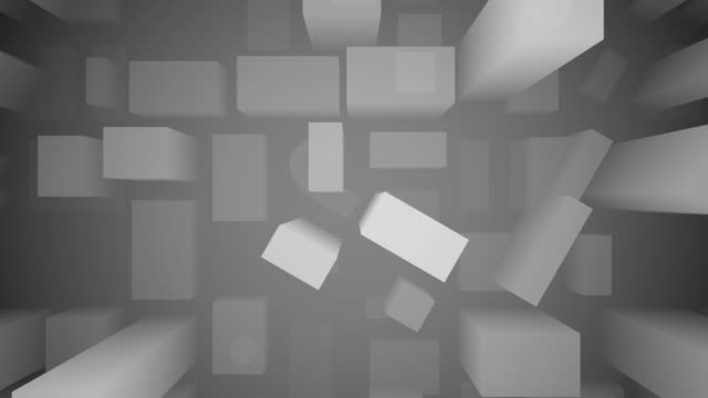 3D Stadtplan schwarz und weiß oben geschossen – Video