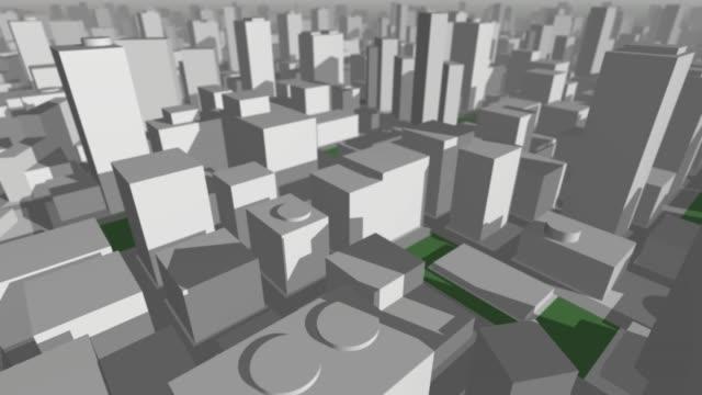 3D Stadtkarte fliegen rückblickend – Video