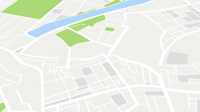 City map Navigation Motion Animation