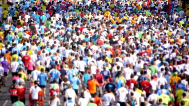 HD - City Marathon. Crowd of people video