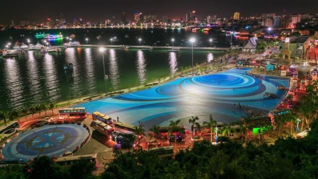 city night pier - pattaya bildbanksvideor och videomaterial från bakom kulisserna
