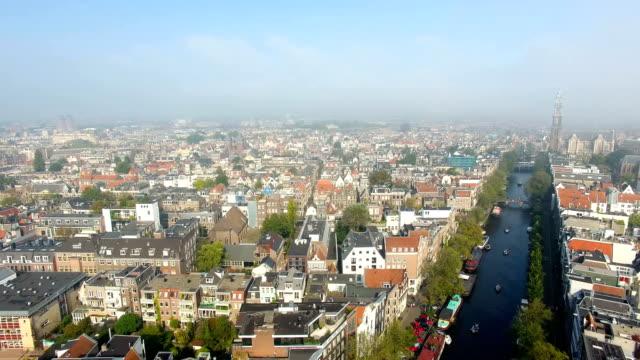Luftaufnahmen der Stadt Amsterdam – Video