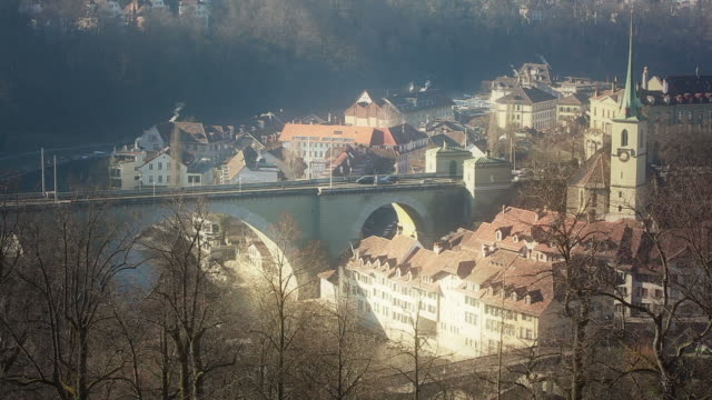 HD: Stadt von Bern, Panoramablick – Video