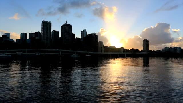 City Of Brisbane at Sunrise, Australia video