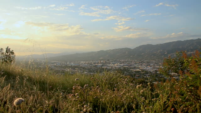 City of Burbank, CA from the hills of Griffith Park video