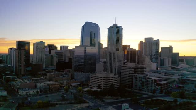 City of Denver, Colorado Buildings (Aerial 4K Drone Video)