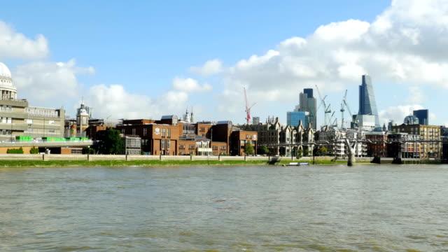 POV City Of London And Millennium Bridge video