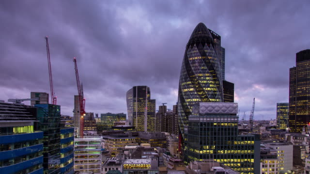 City of London at Sunrise - Time Lapse