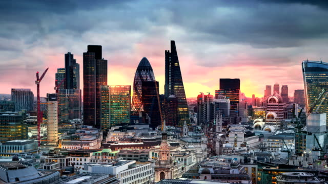 city of london business and banking aria - london architecture stock videos & royalty-free footage