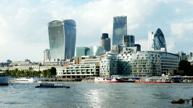 City Of London Skyline And Thames River video