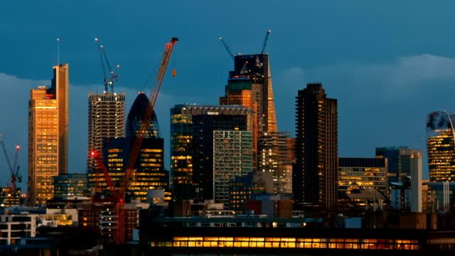 londons skyline, london, england, storbritannien - brexit bildbanksvideor och videomaterial från bakom kulisserna