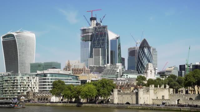 Hochhäuser der City of London und Tower Hill – Video