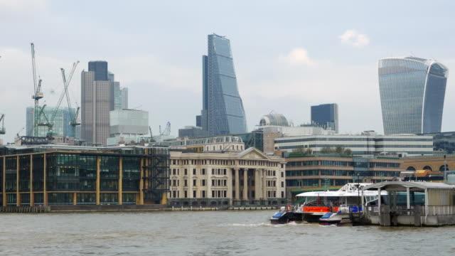 City of London Wolkenkratzer aus dem Südwesten – Video