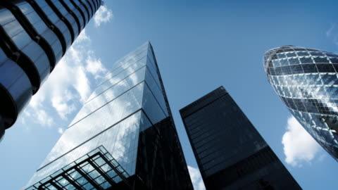grattacieli di città di londra - centro della città video stock e b–roll