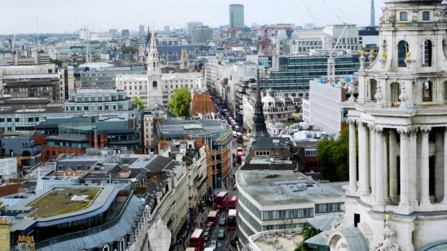 City of London mit Ludgate Hill und Fleet Street – Video