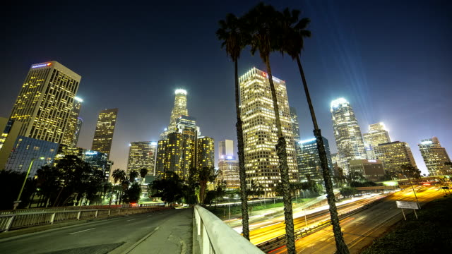City of Los Angeles at night video