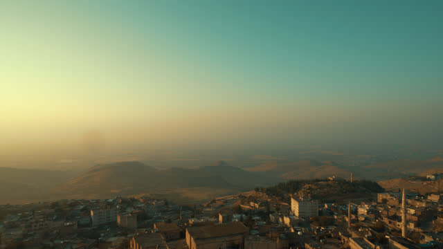 City of Mardin, in the Middle East in Mesopotamia - 4K Drone Footage