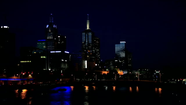 City of Melbourne at Night, Australia video