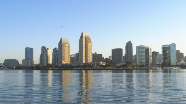 City of San Diego at dawn video