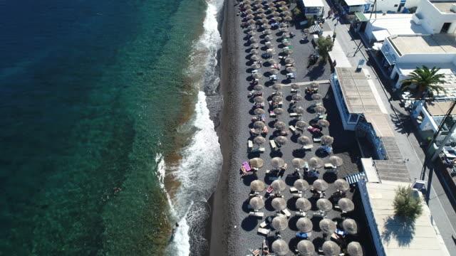 santorini sa att det är en stad i grekland. - egeiska havet bildbanksvideor och videomaterial från bakom kulisserna